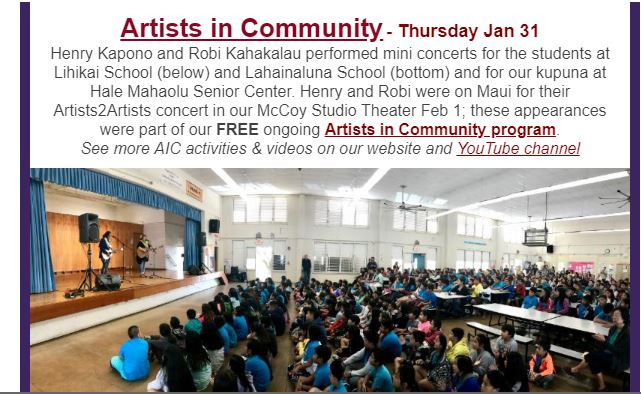 Arts In Community February 2019